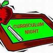 Curriculum Night – Thursday, September 15 at 7:00