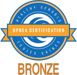 OPHEA Healthy Schools Certified bronze